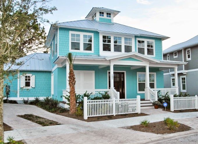 43 best tropical exterior colors images on pinterest beach homes beach houses and beach cottages for Exterior house painting jacksonville fl
