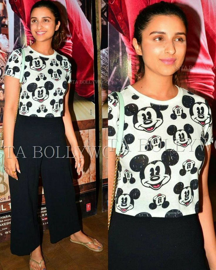@BOLLYWOOD actress #ParineetiChopra came to watch the special screening of her Ishqzaade movie Costar Arjun Kapoor today. She was seen in Black Dhoti Pants and mickey Mouse Top for the movie premiere. @BOLLYWOOD  #instabollywood #bollywood #india #indian #desi #makeup #Stylefile #hairstyle #kiandka #SpecialScreening #Bollywoodstylefile #bollywoodstyle #bollywoodmovie #bollywoodforever #bollywoodactress #bollywoodfashion  #fashionphotography #fashion #fashionista #style #bestoftheday…