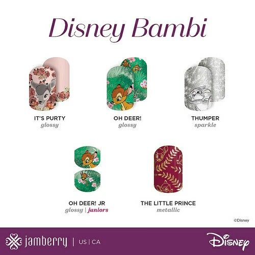 Really excited for Bambi nail art thanks to Disney Collection Volume 2 by Jamberry! Check out all the Bambi nail wraps at Ciarabrandner.jamberry.com