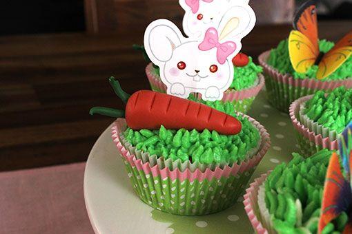 Frühlingscupcakes mit Möhren