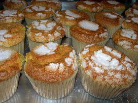 Nos han recordado a las magdalenas de horno de toda la vida....  Ingredientes  200 gr de harina 20 gr de levadura química 200 gr de azúcar 1...