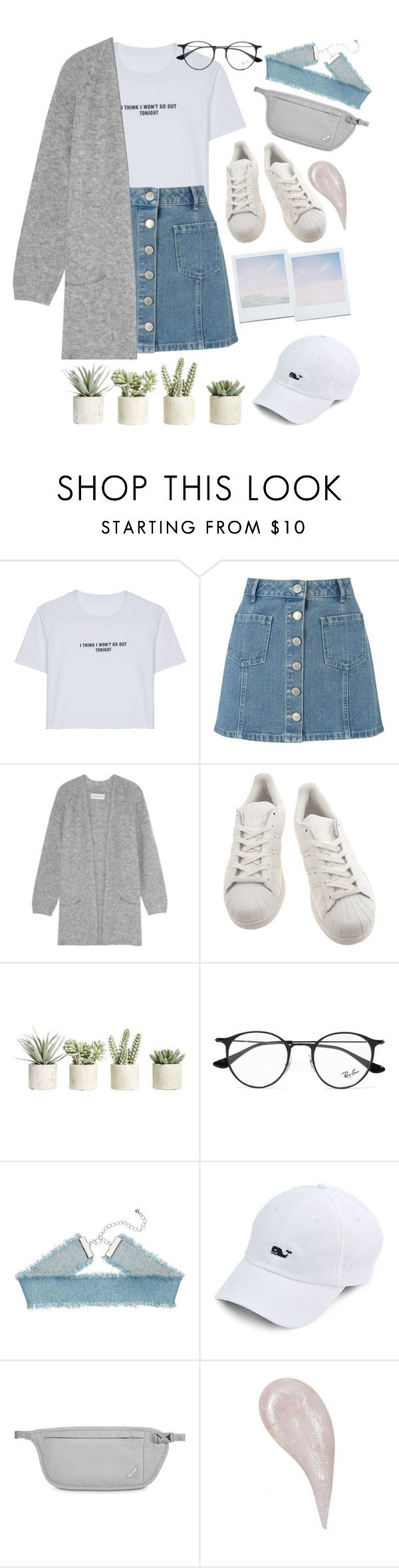 """""""Untitled #41"""" by lisajeff ❤ liked on Polyvore featuring WithChic, Miss Selfridge, By Malene Birger, adidas, Allstate Floral, Holga, Ray-Ban and Pacsafe"""