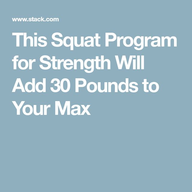 This Squat Program for Strength Will Add 30 Pounds to Your Max
