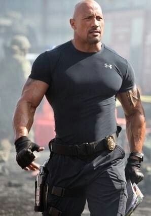 (The Rock) One of the few who can pull off wearing under armor in public