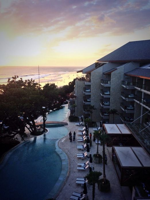 Sunset: Sunset view from Double-six Rooftop, another cool place for sunset viewing in Bali. (Photo by Indra Febriansyah)