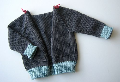 Sweater Techniques Series – Gramps Baby Cardigan – 4 / 6 : Top-Down Sweater Construction - Body and Arms