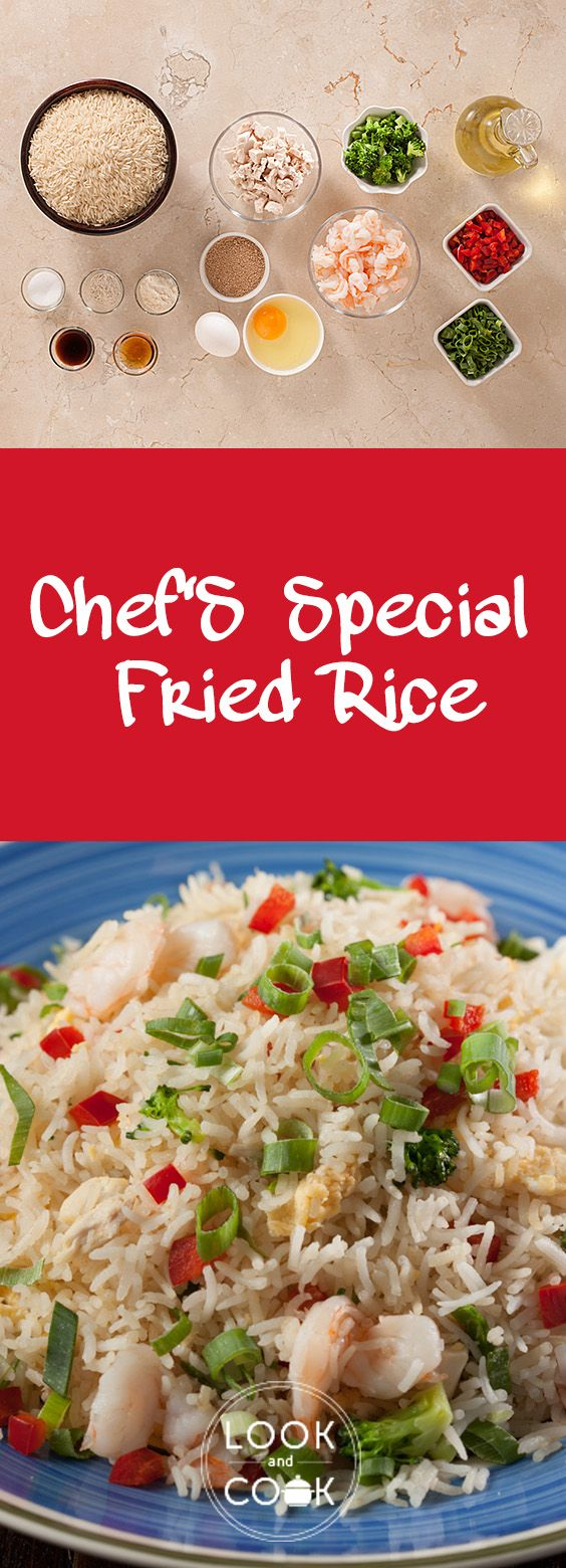"""Chef's special fried rice recipe (LC14306 ) - This fried rice is a simple creation and unrivalled. Fresh ingredients and stock powders are added without the frills."""""""