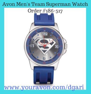 Avon Men's Team Superman Watch - Super style for any superhero. https://www.avon.com/product/mens-team-superman-watch-55095?rep=dgari #avon #men #team #superman #watch