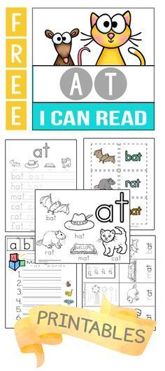 Huge Set of Free Phonics and Word Family Printables! http://kindergartenmom.com/i-can-read/