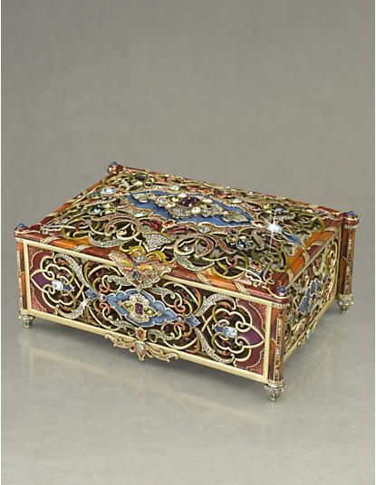 Timurlane Large Treasure Box - Tapestry  Jay Strongwater