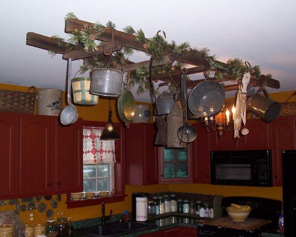 Primitive Home Decor For Kitchen: 32 Best Primitive Ladders Images On Pinterest