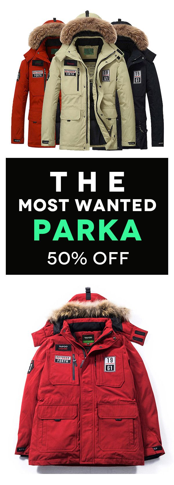 This Winter's Must-buy. Stylish Parka, the newest trend.