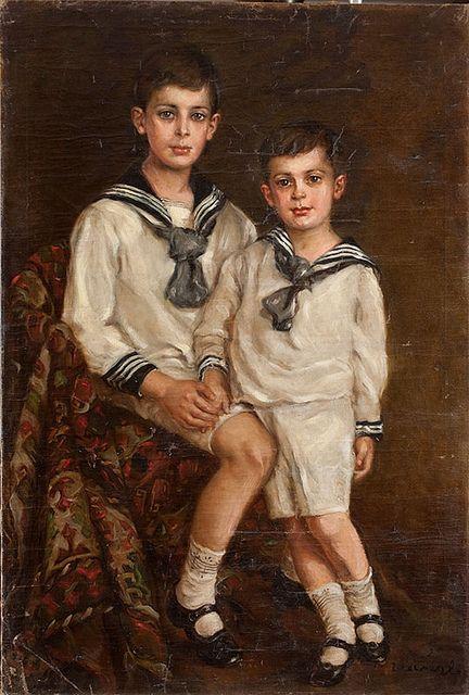Elmyr de Hory, 'Portrait of Elmyr and his brother Stephan,' c.1950, in the style of Philip de Lászlό...