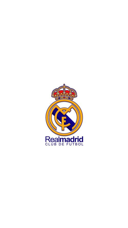 File attachment for Apple iPhone 6 Plus HD Wallpaper - Real Madrid Logo in white background