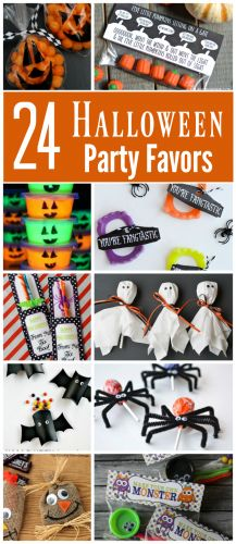 These 24 Halloween party favors are sure to be a hit at your kids' school Halloween party or with your trick or treaters. There are lots to choose from ranging from non-candy favors to treat bags to cute printables and more.
