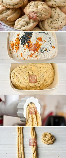 Цитрусовое печенье в мясорубке