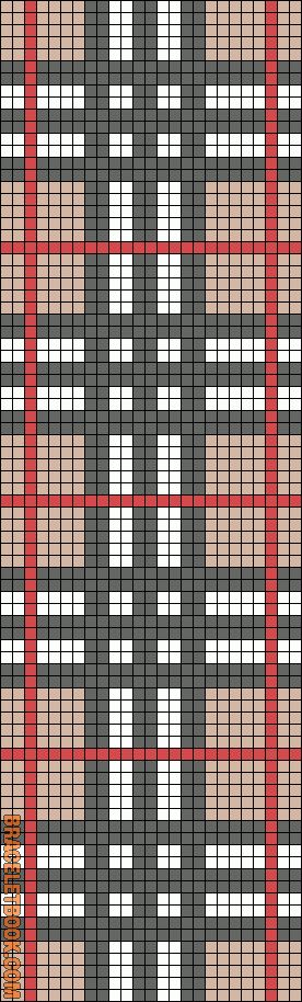 Free Burberry cross stitch pattern #stitching