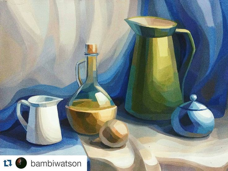 «Классная работа @bambiwatson  #живопись #натюрморт #творчество #художник #арт #painting #artist #instaart #painter #acrylic #art #artwork #stilllife»