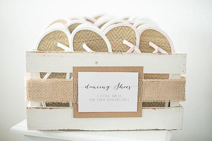 Gastgeschenke - Flip Flop Korb 15 Paare Vintage - ein Designerstück von little-pink-butterfly bei DaWanda