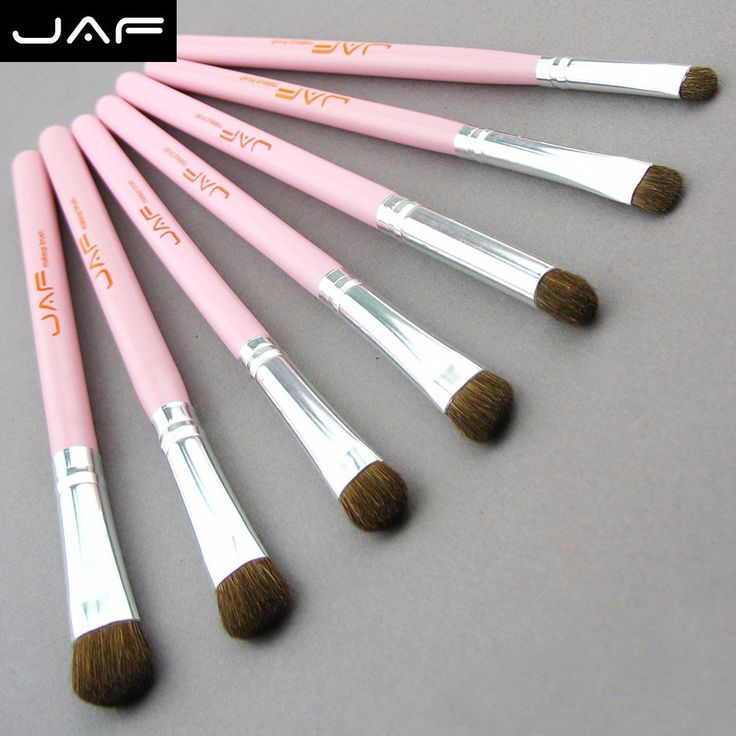 Price-3$     Retail JAF Classic 7pcs Brushes for Makeup 100% Natural Animal Horse Pony Hair Eye Makeup Brush Set JE07PY