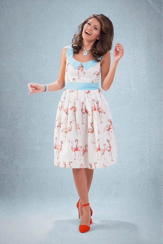 Flamingo dress By TiCCi Rockabilly Clothing by TicciRockabilly