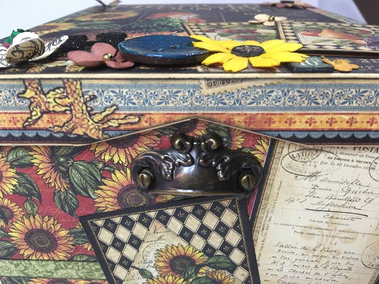 Adjusting the lid to a drawer pull - French Country Memory Box (Handmade)   Creator's Image Studio