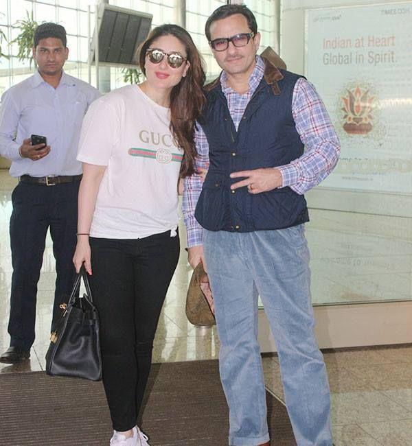 Kareena Kapoor Khan and Saif Ali Khan take off to London clicked at Airport...  #ComingTrailer #KareenaKapoorKhan #SaifAliKhan #Bollywood #Fashion #Latest #Gorgeous #Taimur #KareenaKapoor #Kareena #London #airport