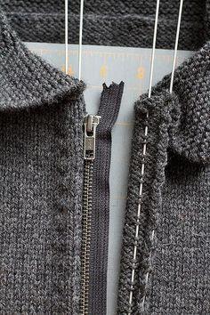 Как вставить молнию в вязаное изделие (Уроки и МК по ВЯЗАНИЮ) | Журнал Вдохновение Рукодельницы