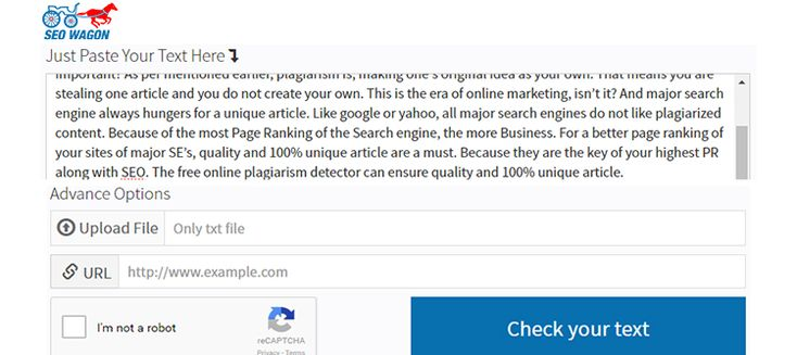 Free Online plagiarism detector detects copied content of your article and helps…