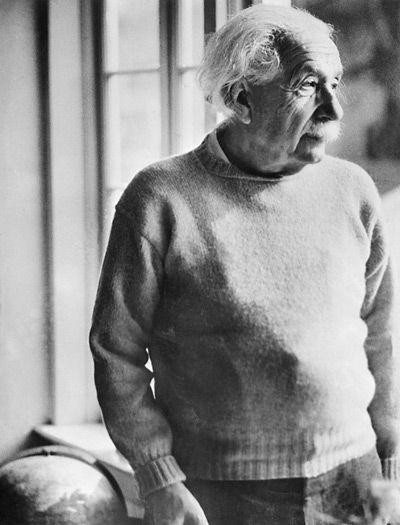 Albert Einstein on his 75th birthday, March 15, 1954, in Princeton, New Jersey #alberteinstein