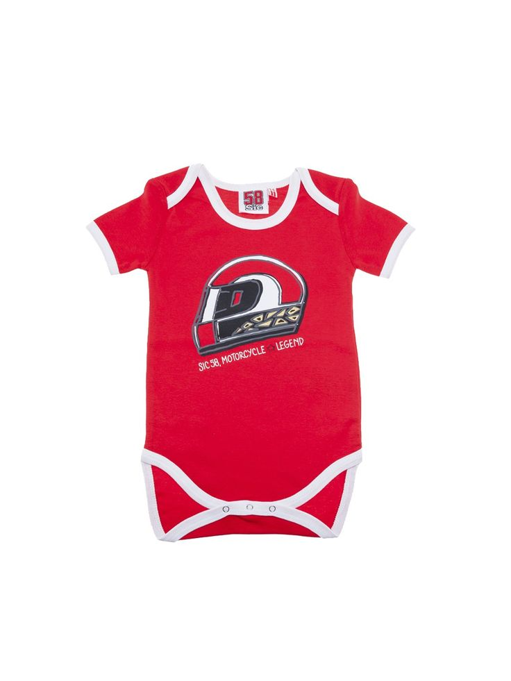 Romper suit from the Marco Simoncelli 2017 collection. Cotton 100%. #marcosimoncelli #baby #romper #sic58