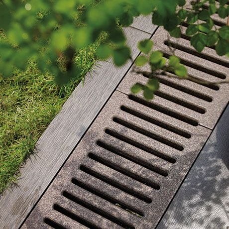 17 best ideas about trench drain on pinterest french for Landscape channel drain