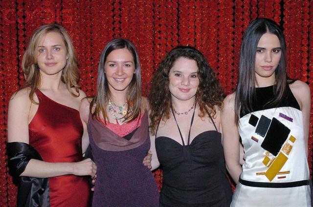 Virginie Desarnauts, Emmanuelle Boidron, Isabelle Giami & Melissa Mars © Corbis @ Paris Film Festival Opening Gala Dinner 24/03/2004