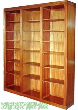 Lemari Buku Perpustakaan Permeter   Lemari Murah   Kantor Daerah   Kantor Kota   Desain Model Minimalis   Jati   Triplek HPL   Jual Murah
