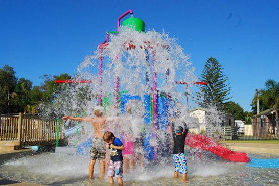 Kids enjoying the #splashpark at BIG4 Harrington Holiday Park