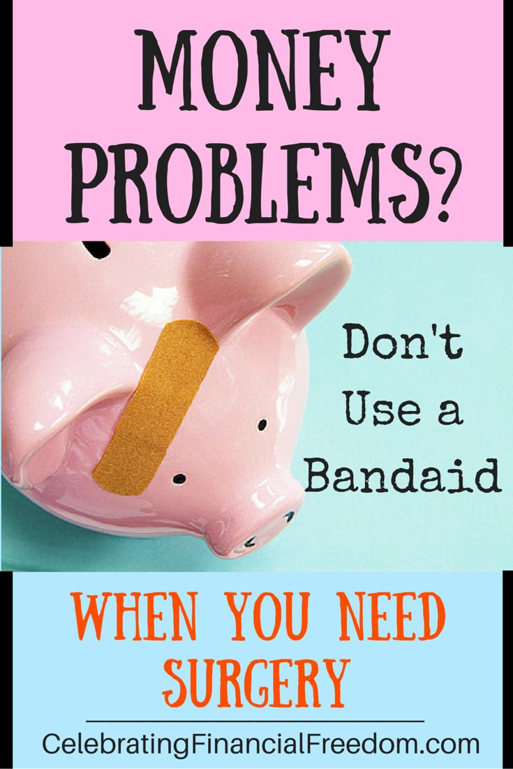 When finances get difficult, what you do?  Most people just try to cut expenses, but that only acts as a bandaid.  That's rarely enough.  Click the Pic and I'll show you how to do major surgery on your finances so your problems disappear!    #money #finances #problems  http://www.cfinancialfreedom.com/money-problems-bandaid-surgery/