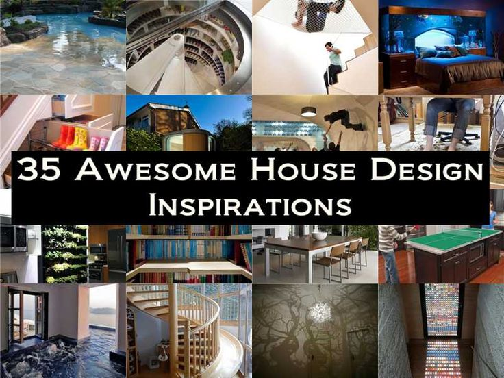 Here's the link to the full list >> 35 Awesome House Design Inspirations << by Buzz + Inspired >>> More Creative Ideas