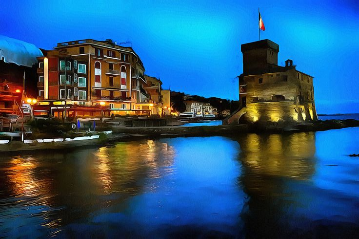 The old tower in Rapallo, Liguria