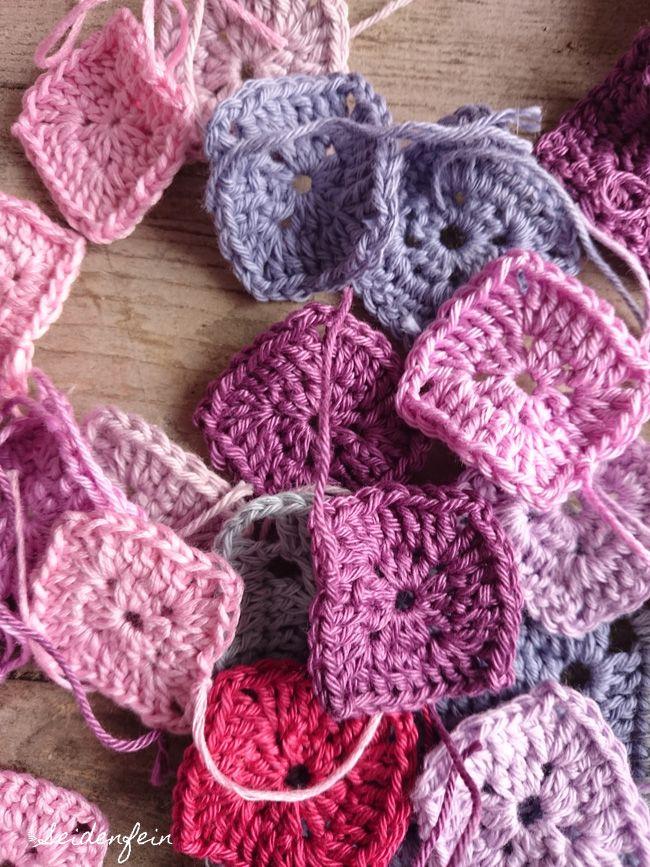 seidenfeins Blog vom schönen Landleben: Häkeln im Quadrat * crochet quaters