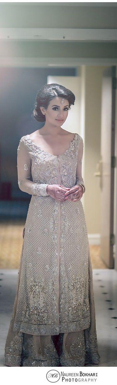 Pakistani wedding dress.dress by bina khan. uploaded by Fatima hayat. http://www.naureenbokhariphotography.com