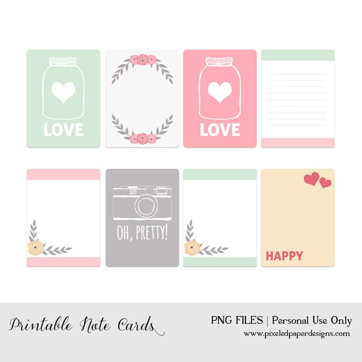 Free Printable Journal Cards - Valentine