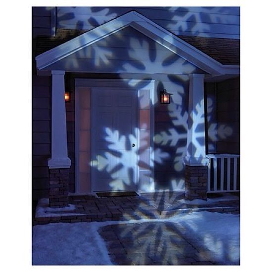 LED Rotating White Snowflakes Indoor/Outdoor Christmas Holiday Light Projector #Philips