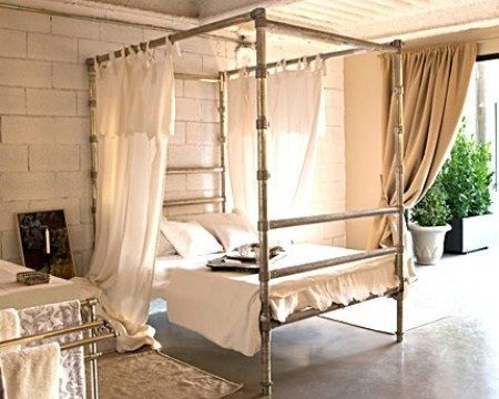 17 Best Images About Beds Made With Pipe On Pinterest Industrial Loft Bed Plans And Diy Bed Frame