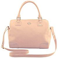 Ladies Tory Burch Robinson Satchel Bag Dark Sahara (pale pink) Medium #Handbag with #Gold Hardware | #Ad