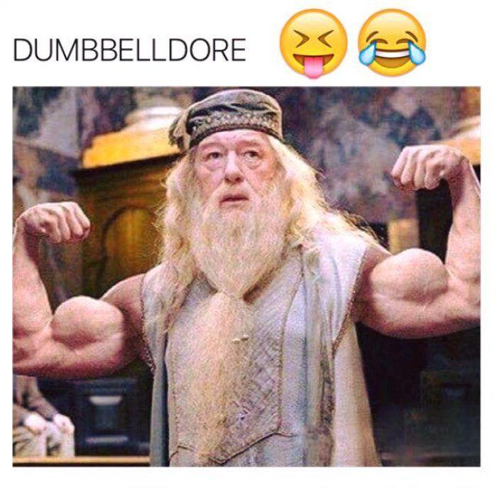 Dumbbelldore – gym meme