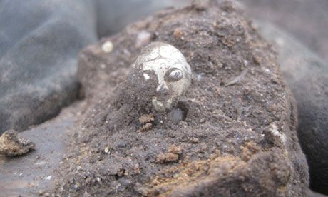 Flight of the valkyrie: the Viking figurine that's heading for Britain.  Believed to be from 800AD.  Found in a heap of Viking scrap, it's believed it was going to be recycled for it's silver content.