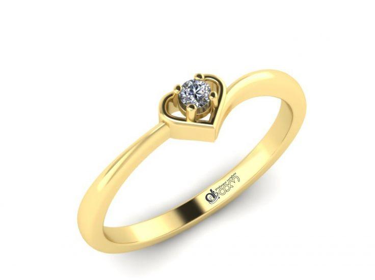 Inel de logodna ATCOM Lux cu diamant GILBERT aur galben