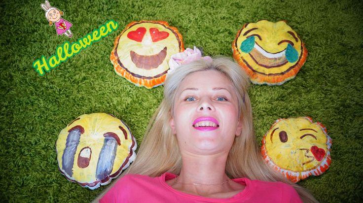 #Halloween #Красим #Тыкву #Смайл #Эмоджи | paint a pumpkin Smile Emoji |...