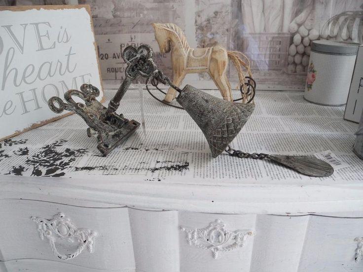 Neu Glocke Türglocke Schloss Schlüssel Eisen Türschloss Vintage Shabby chic 841 in Möbel & Wohnen, Dekoration, Sonstige   eBay