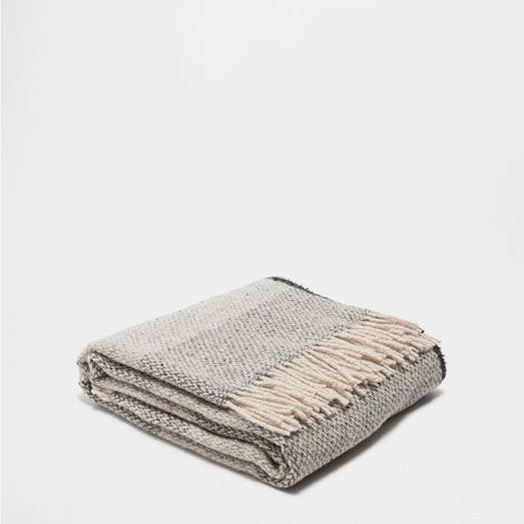 STRIPED WOOL THROW - Throws - Bedroom - Home Collection - SALE | Zara Home…